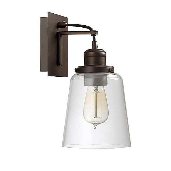 Tapered Glass Wall Sconce